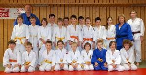 Ferientraining zur Gürtelprüfung unserer Judo-Kids